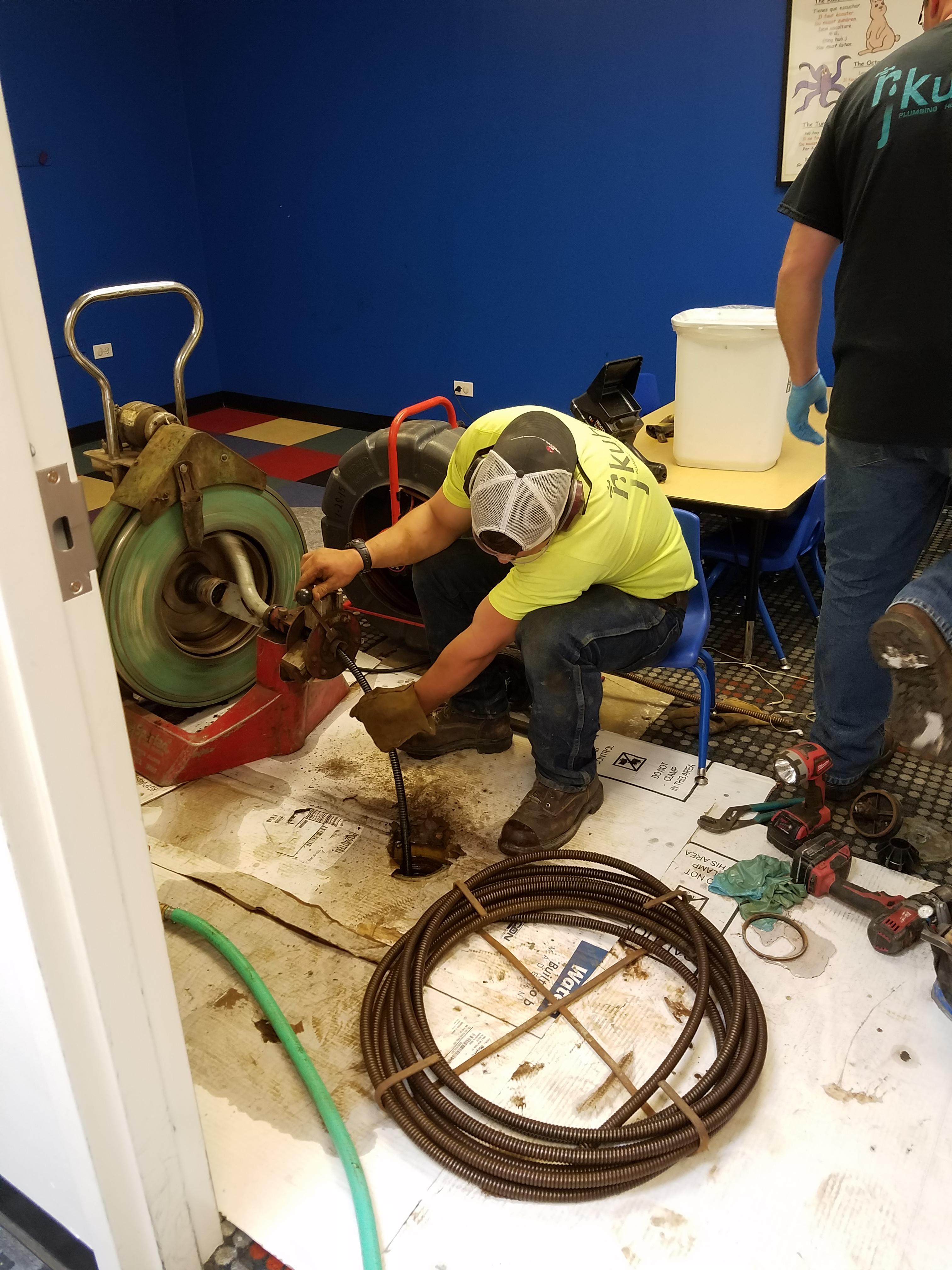 RJ Kuhn plumber snaking drain