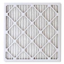 White furnace air filter